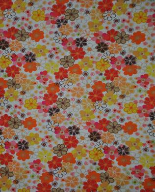 PB248-O Orange Floral