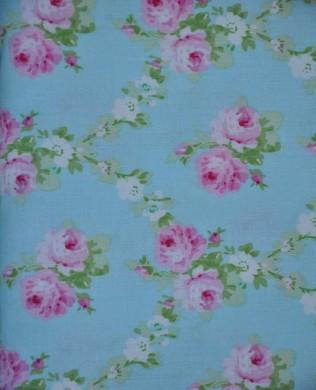 TW148 Blue Rose Trellis