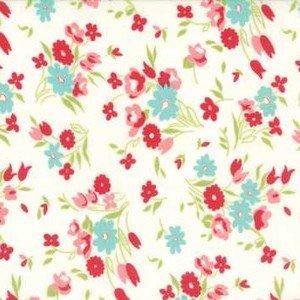 55182 15 Cream Sml Floral