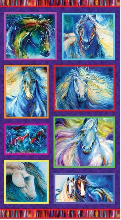 6199 Painted Horses Panel