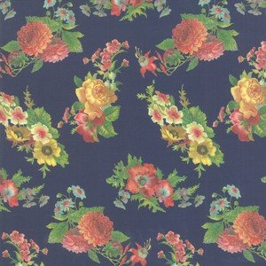 7354 17 Navy Floral
