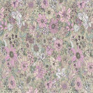 820814-90 Grey Flowers