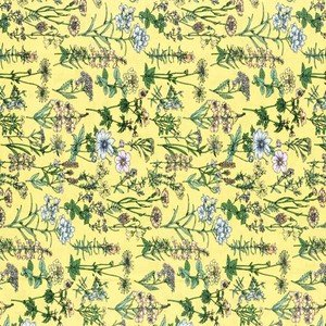 820816-50 Yellow Floral