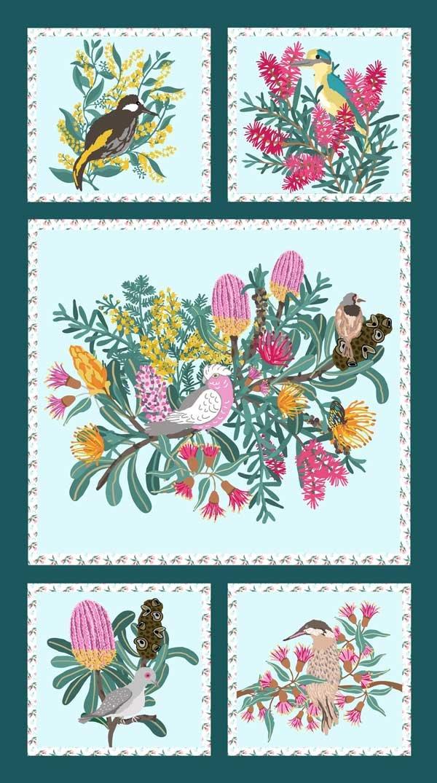 9056A Native Bouquet Panel