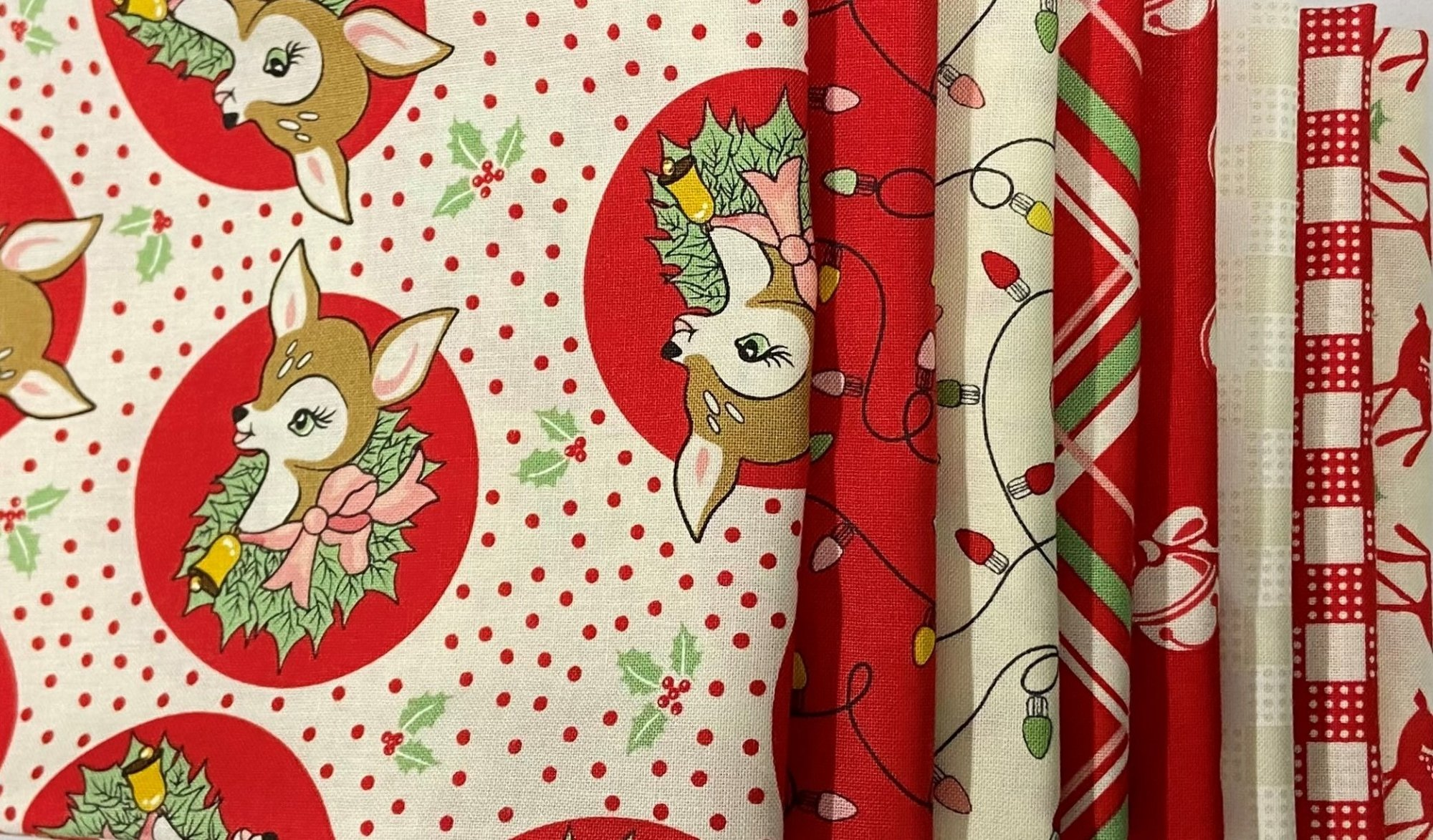 Deer Christmas Fat Quarter Pack