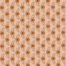18093 144 Peach Bees