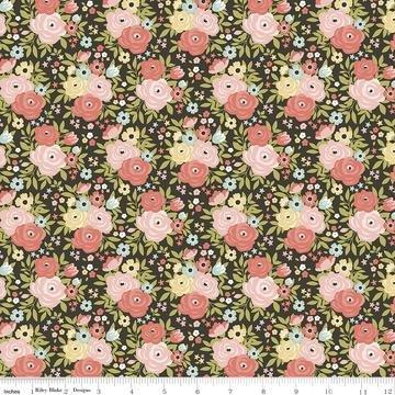 C10681 Charcoal Floral