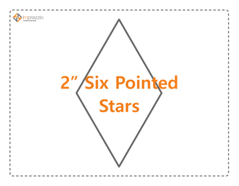 2 Inch Six Pointed Diamonds