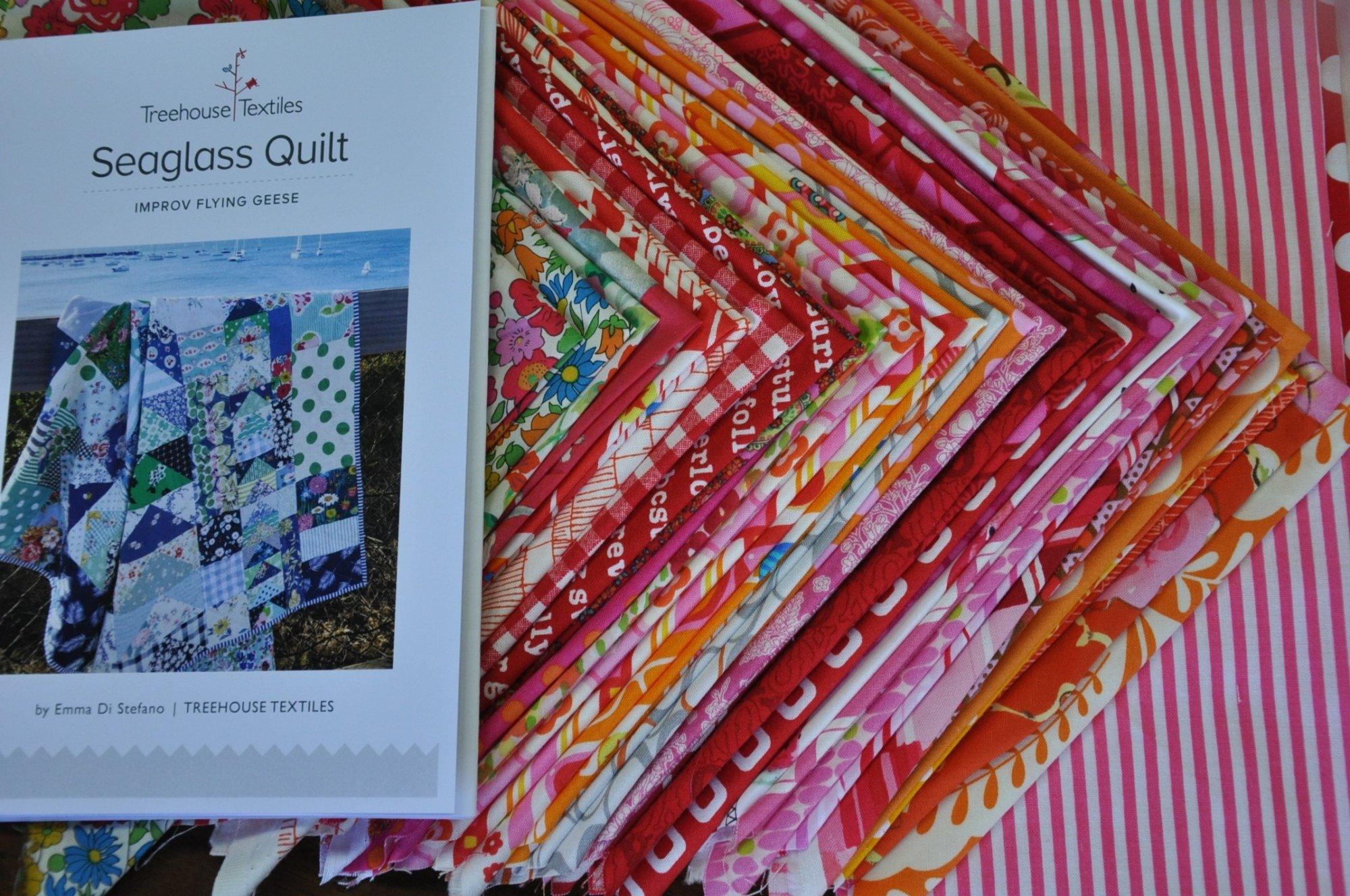Seaglass Starter Quilt Kit (Pink Red)