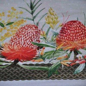 2AGT 1 Cream Banksia Stripe