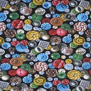 ES568 Black Buttons