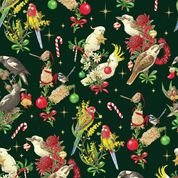 DV3155 Green Xmas Birds