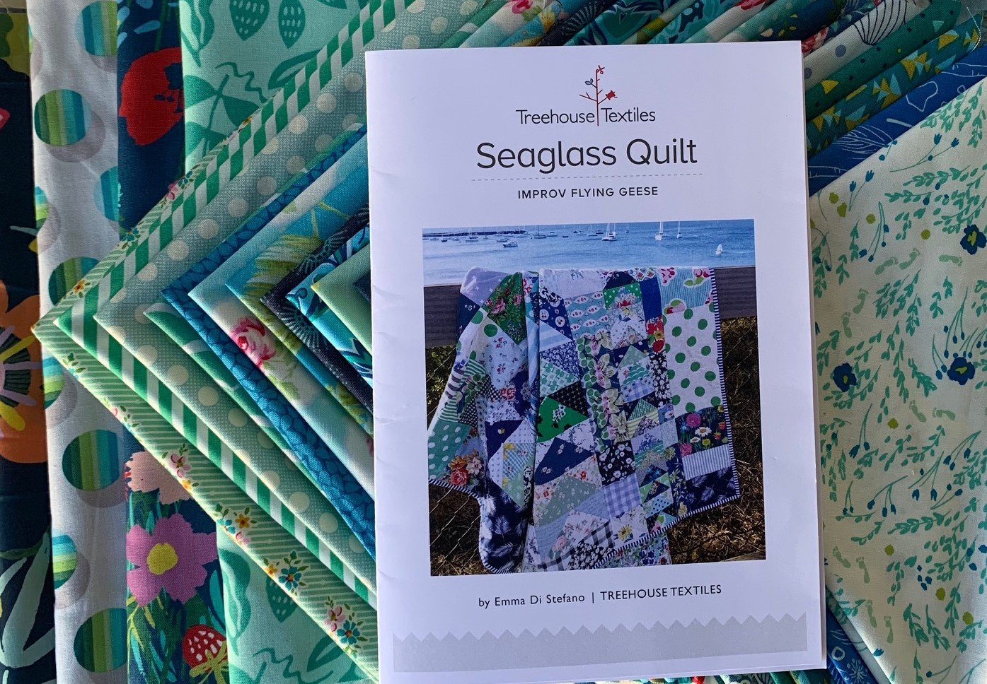 Seaglass Starter Quilt Kit (Blue Green)