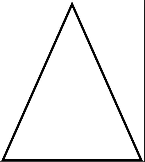 1 1/4 Inch Isosceles Triangles