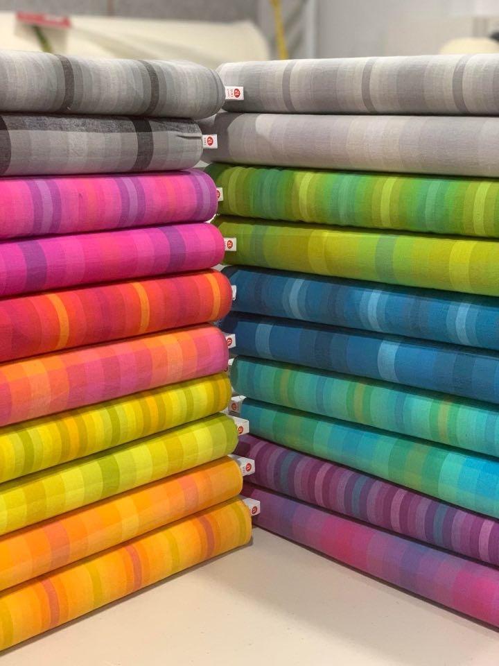 Kaleidoscope - Stripes and Plaids Fat Quarter Bundle