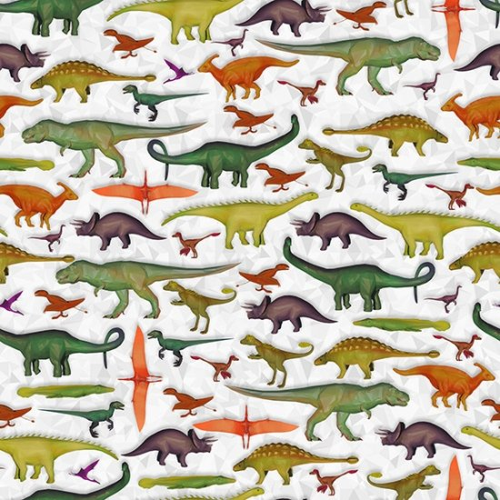 S4766-48 Gray Dinosaurs