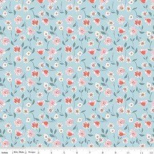 SC8652 Blue Floral Sparkle