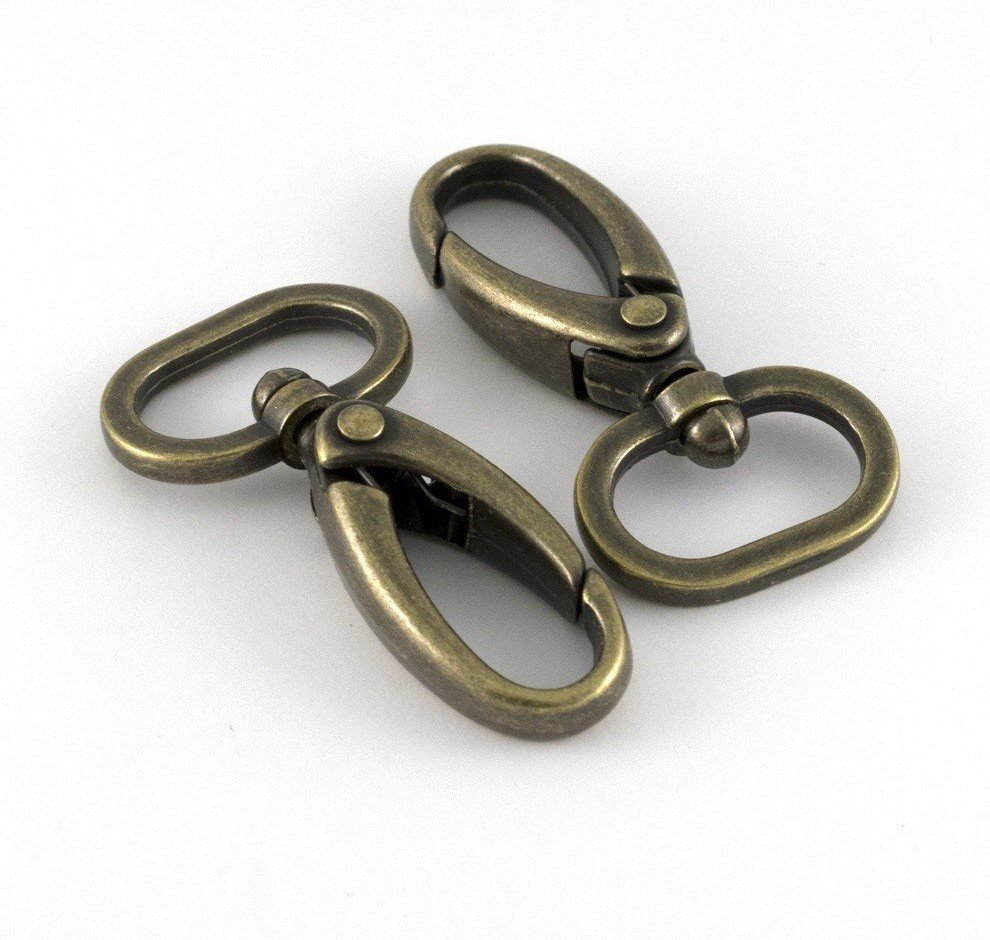 Swivel Hook 20mm Brass 4pack