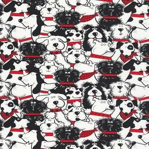 6988 White Stacked Dogs