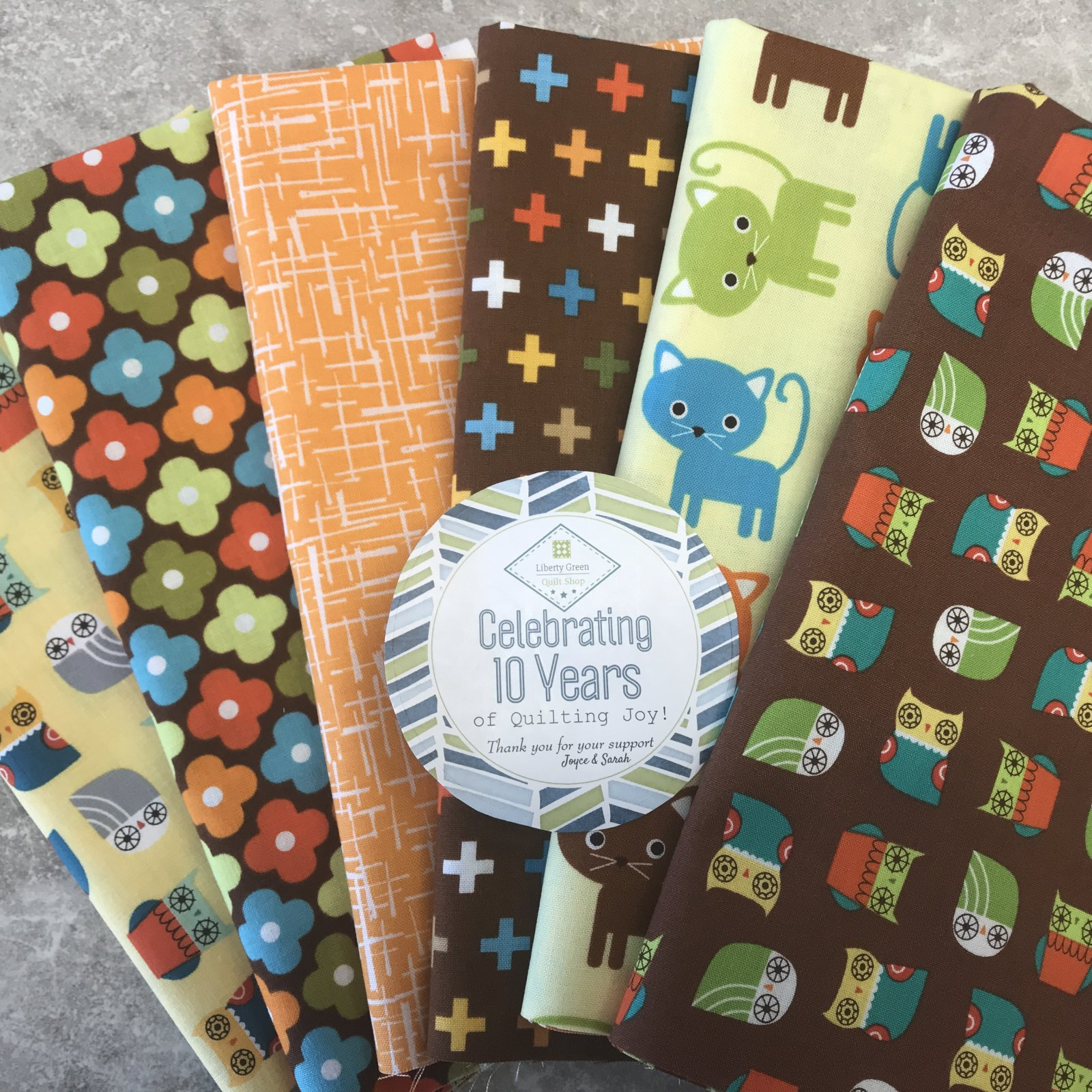 10th Anniversary Kit ~ Owls & Kitties Fall colors ~ $10.00