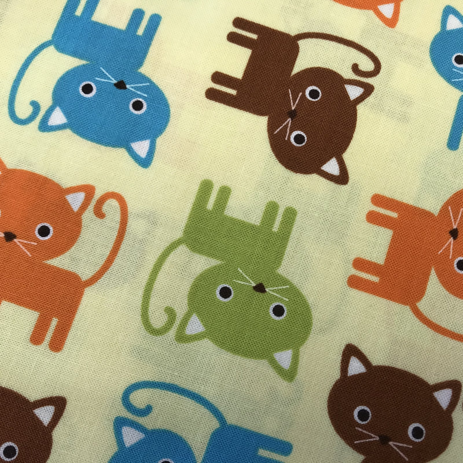 Ann Kelle ~ Urban Zoologie Cats Yellow Background