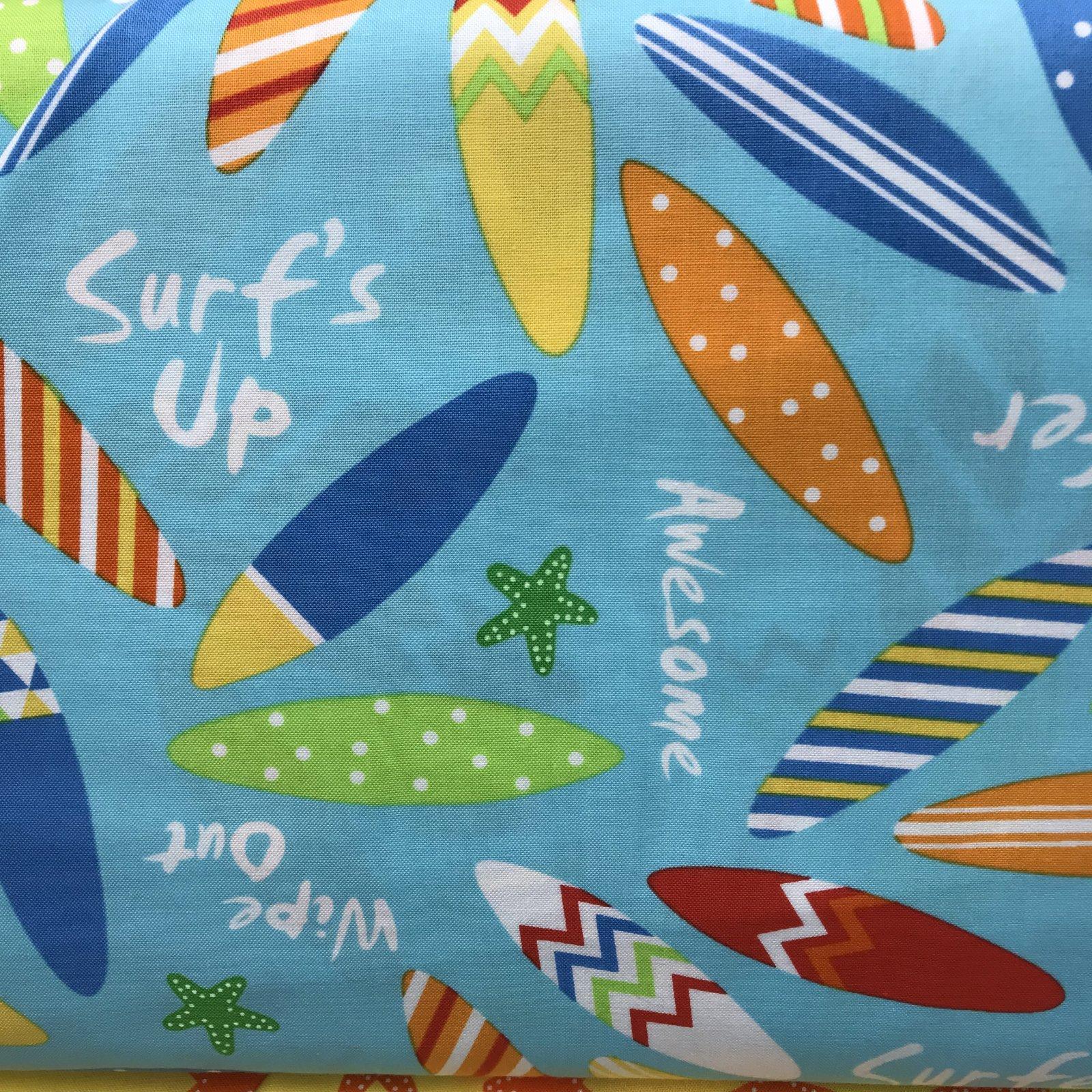 Ann Kelle ~ Sea & Sun Surfboards Aqua background