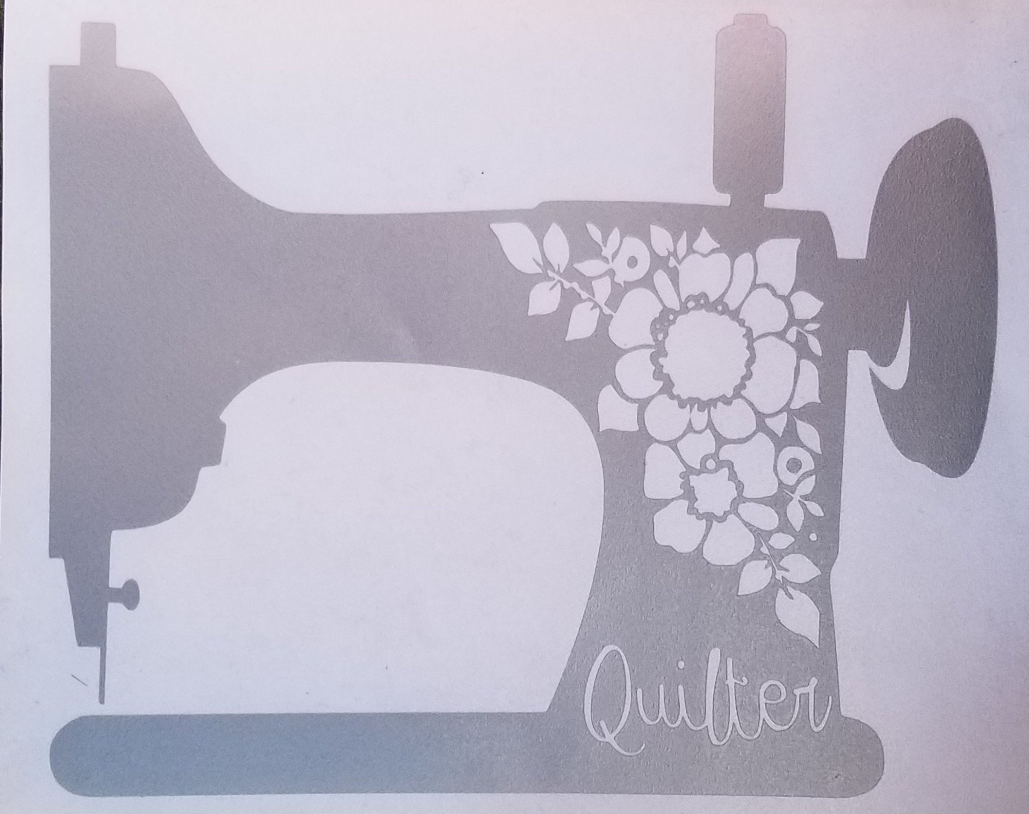 Quilter Car Decal