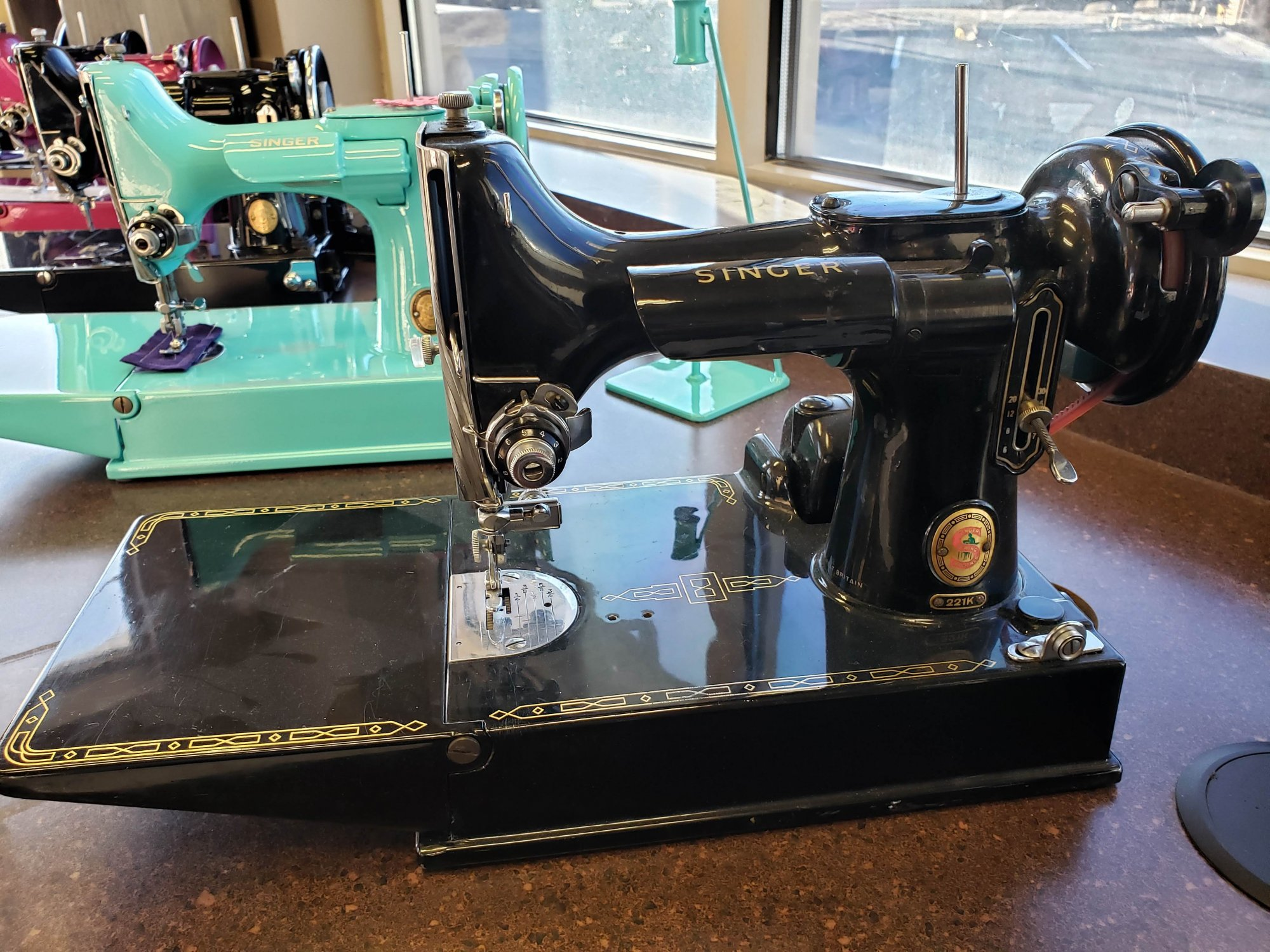 1960 Singer Featherweight 221 Red S