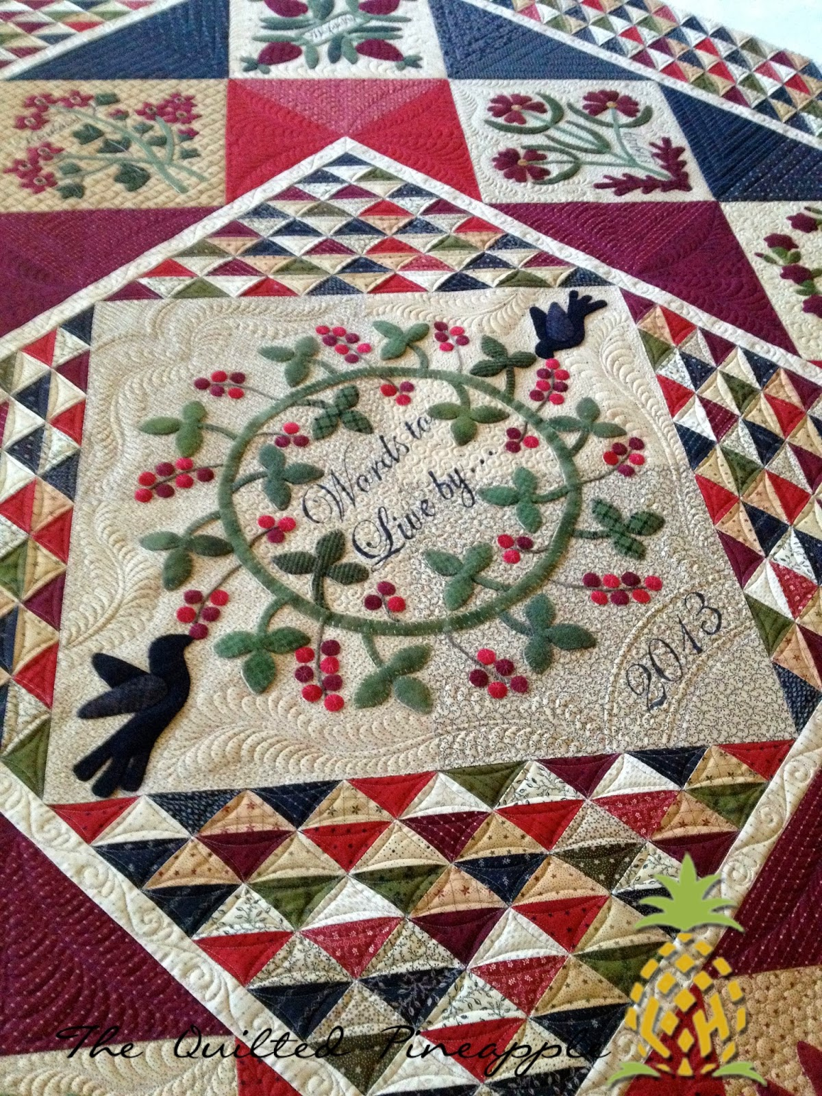 Words to Live By Quilt Kit - Complete - Wool, Cotton, Pattern