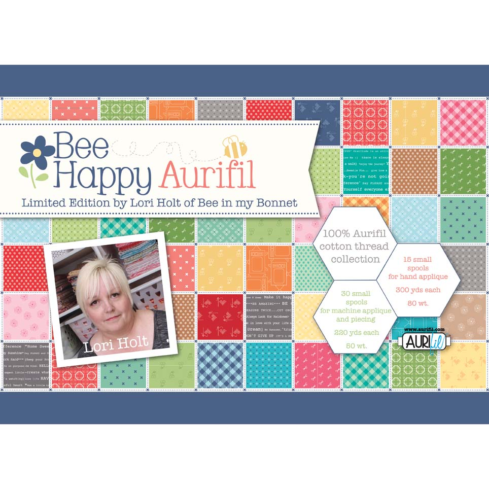 Bee Happy 100% Cotton Aurifil Thread