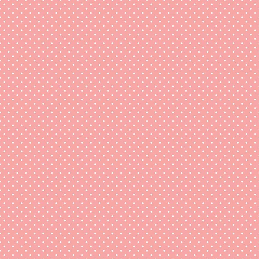 Coral Swiss Dot