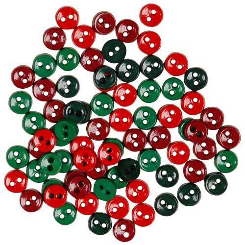 Mini Christmas Buttons