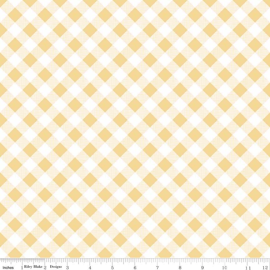 Sew Cherry 2 Gingham Yellow