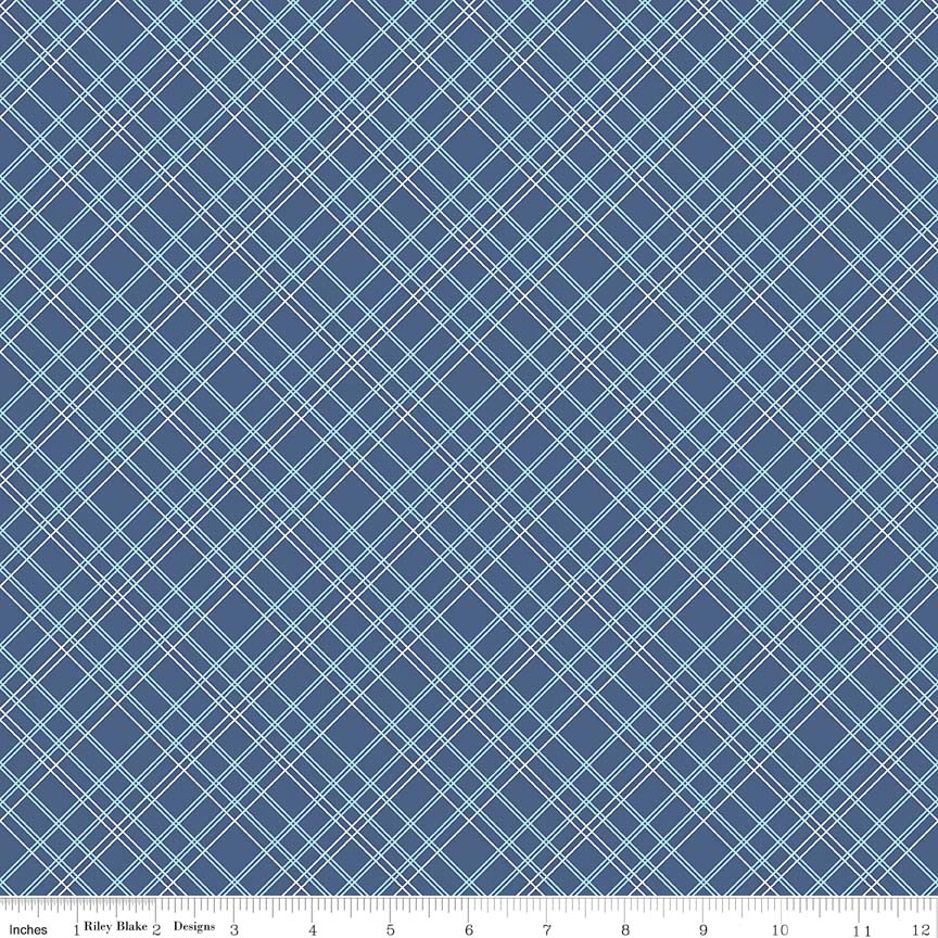 Plaid Wideback Blue