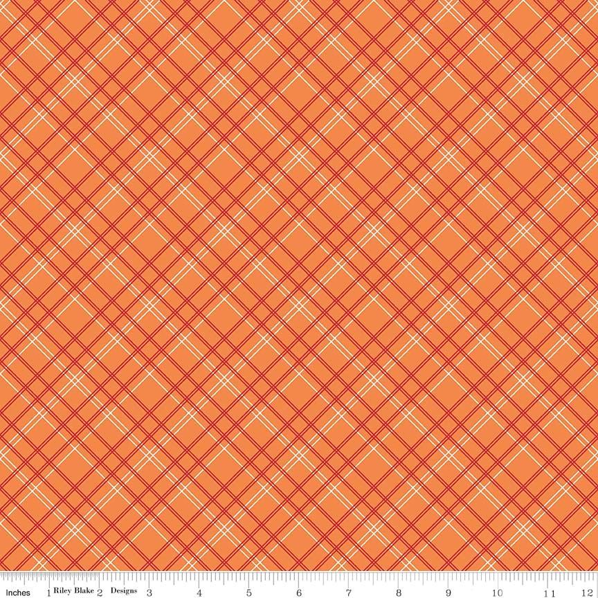 Plaid Wideback Orange