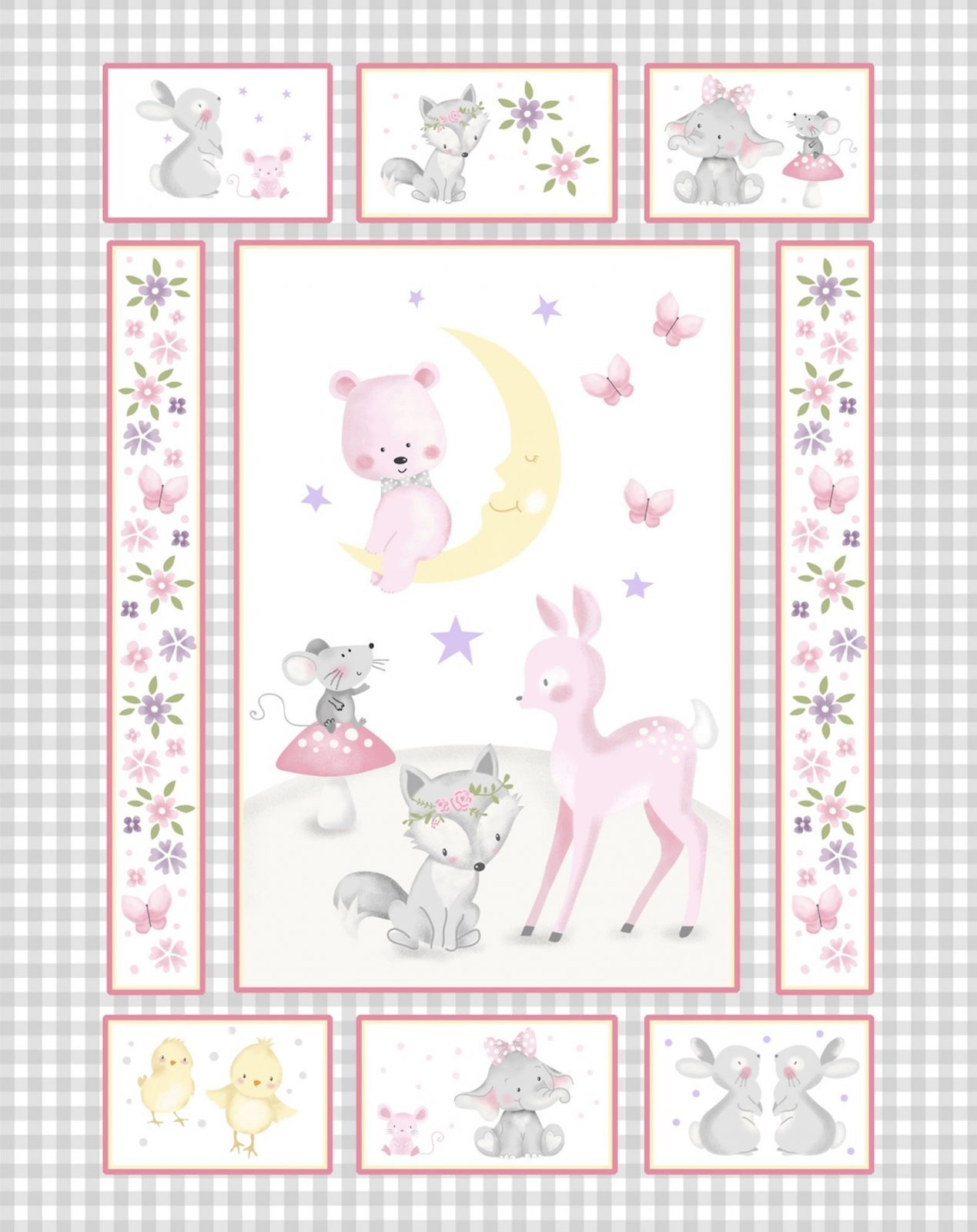 Wee Ones Baby Animal Panel by Oasis Fabrics