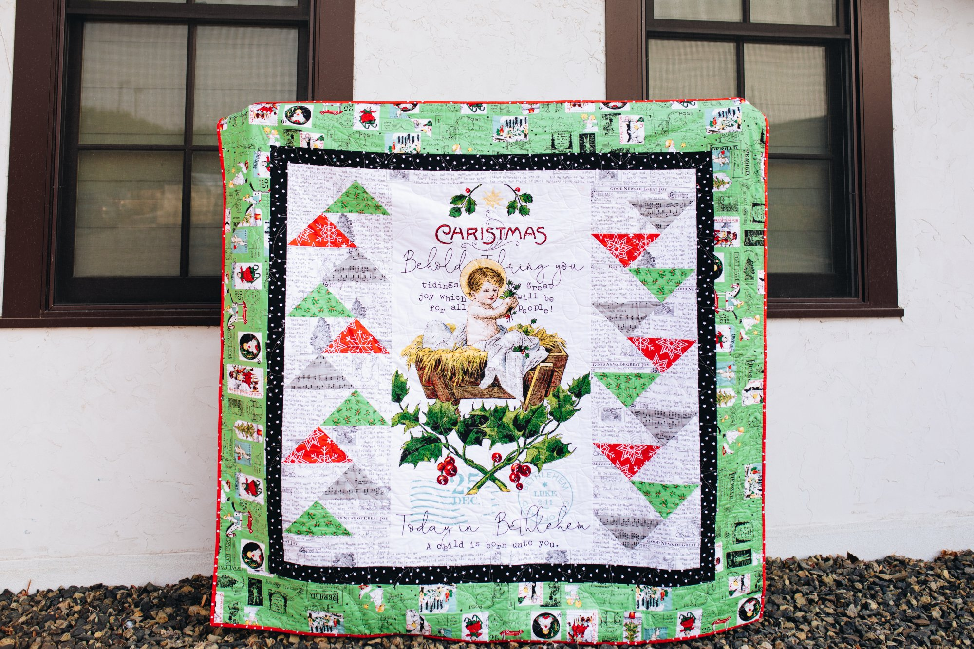 All About Christmas In Flight Quilt Kit