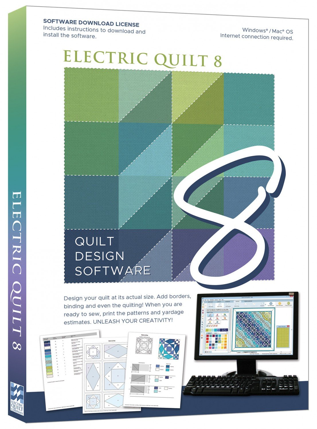 Electric Quilt 8 Quilt Design Software - EQ8
