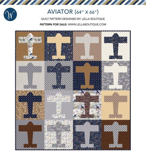 Aviator Quilt Kit Featuring Discover