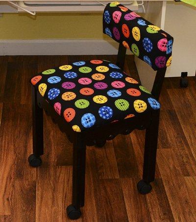 Black Sewing Chair w/ Black Riley Blake Buttons