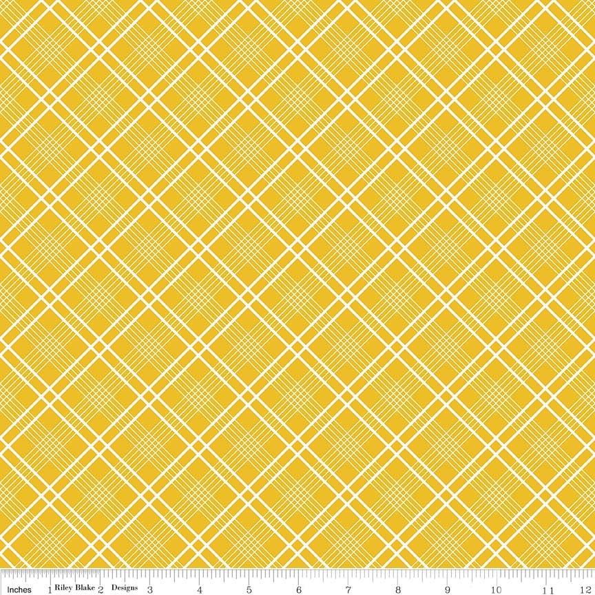 Gingham Girls - Plaid Yellow