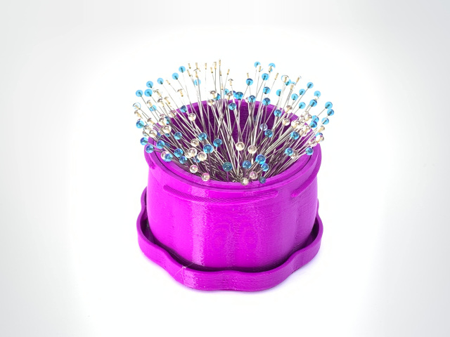 Magnetic Pin Cup, Berry