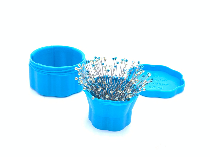 Magnetic Pin Cup, Large Blue