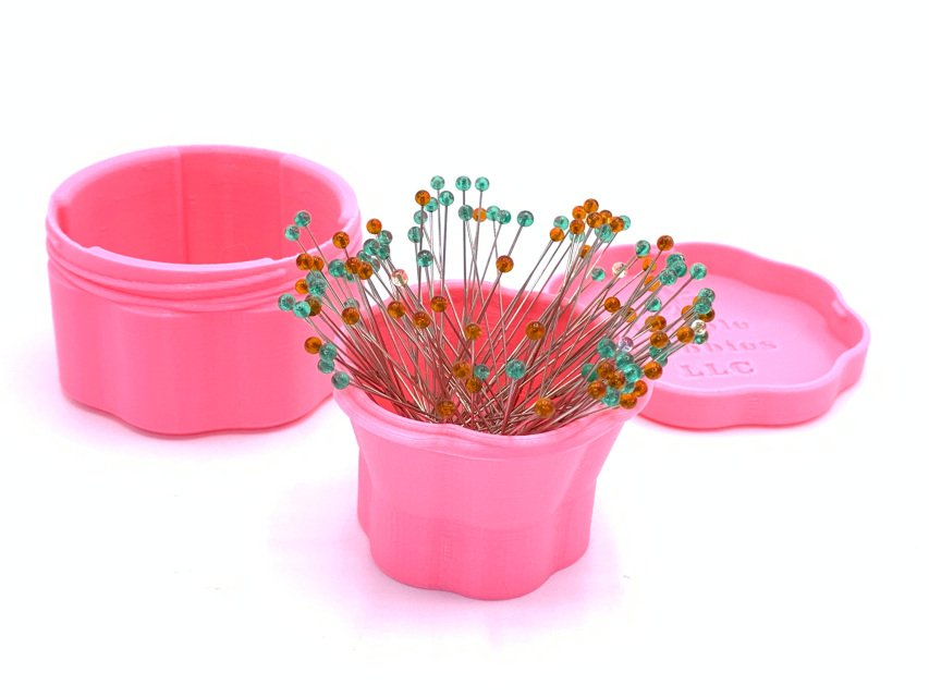 Magnetic Pin Cup, Large Pink