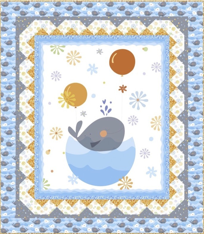 Whale of a Time Quilt Kit