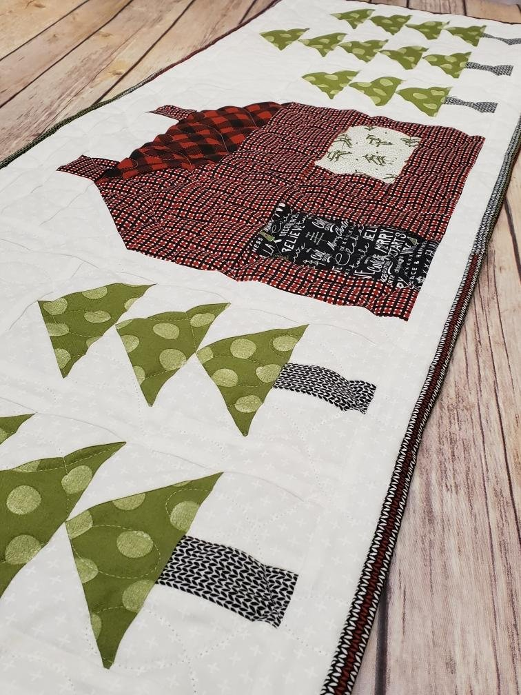 Little House in the Big Woods Table Runner Pattern