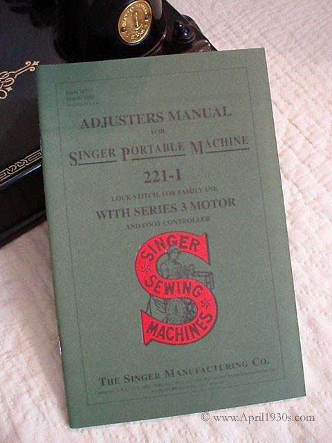 Featherweight Adjuster's  Manual Replica