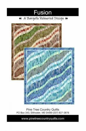Fusion Quilt Kit in Blues by Pine Tree Country Quilts