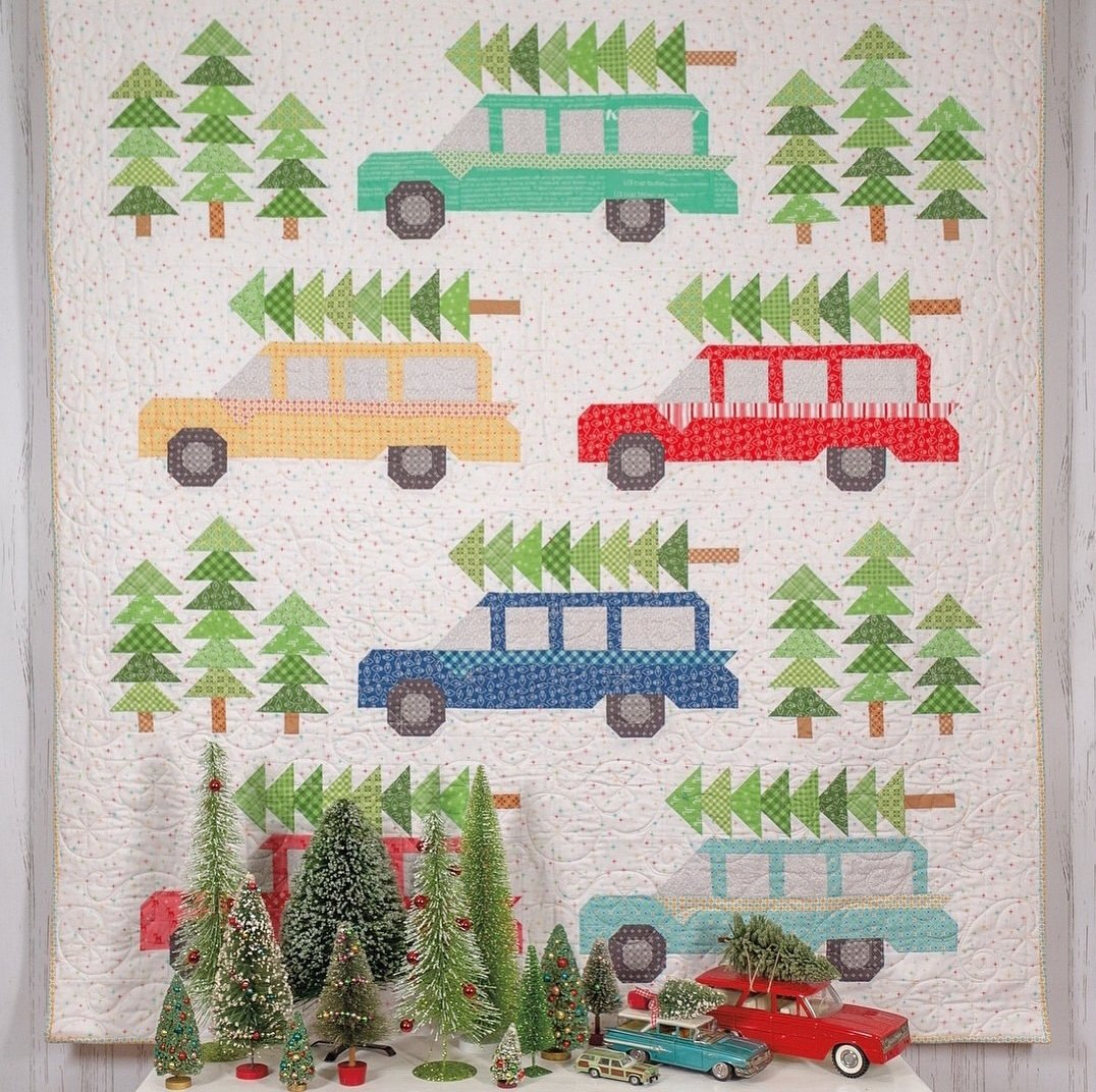 Bringing Home the Christmas Tree Quilt Kit