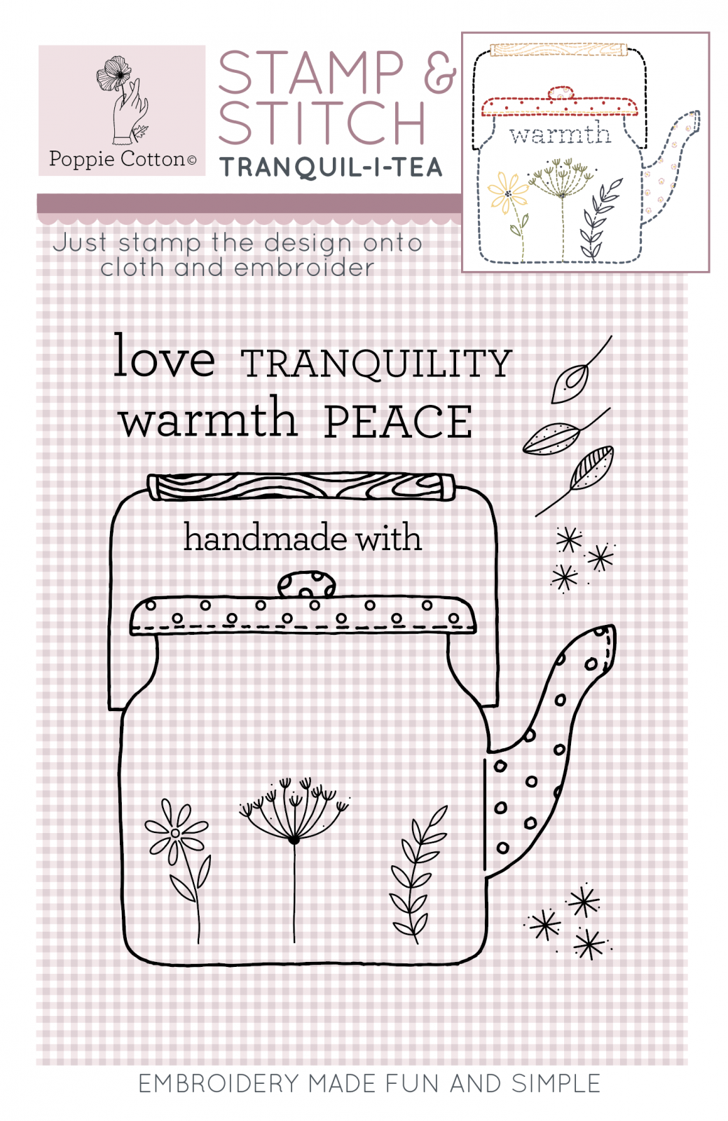 Stamp & Stitch Tranquil-i-tea Label